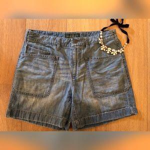 LRL LAUREN JEANS CO  Faded Blue Denim Shorts EUC